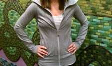 Lululemon In Stride Zip Jacket Pique Knit Long Sleeve Silver Spoon Light Gray 4