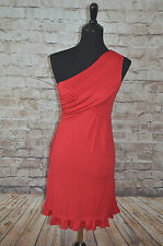 Modcloth Midnight Sun dress in Red NWOT sz M One shoulder Soft Knit  Gilli