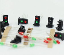 JTD19 10 sets Target Faces With LEDs Railway Dwarf signal HO OO Scale 2 Aspects