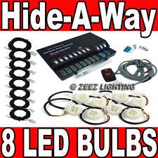 160W 8 LED Bulb Hide-A-Way Emergency Hazard Warning Flash Strobe Light System#05
