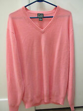 Jos. A Bank Cashmere Sweater NWOT Mens Medium Salmon Pink V-Neck