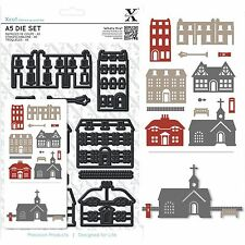 DOCRAFTS XCUT A5 HOUSES & CHURCH 12 PIECE CUTTING DIE SET WITH MAGNETIC SHIM