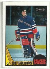 John Vanbiesbrouck 1987-88 O-Pee-Chee New York Rangers Hockey Card #36