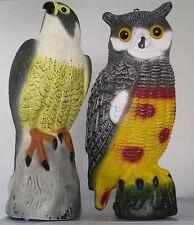 Falcon Bird Eagle Hawk o GUFO DA ESTERNI GIARDINO LAGHETTO ORNAMENTALE Decorazione deterrente