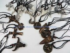 US Seller-50 pieces wholesale necklace lot hippie pendant necklaces $0.75/p