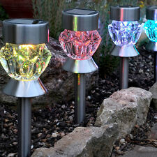 Solar LED Outdoor Lights Lawn Garden Landscape Path Color-Change Stake Spot Lamp
