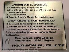 SUZUKI GS1000 GS1000E GS1000G FRONT FORK AIR SUSPENSION CAUTION WARNING LABEL