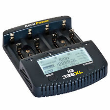 AccuPower IQ338XL Battery Charger Tester Li-ion NiMH NiCd AA AAA C D 9V 18650