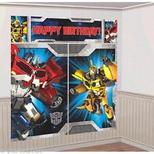 TRANSFORMERS WALL POSTER DECORATING KIT (5pc) ~ Birthday Party Supplies Hasbro