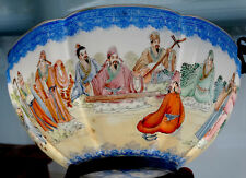 ANTIQUE Vintage CHINESE Porcelain China HAND-PAINTED Famille Rose ENAMEL BOWL