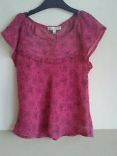 M&S MARKS & SPENCER RASPBERRY PINK 2 PIECE CAMISOLE & SHORT SLEEVED BLOUSE AGE 9