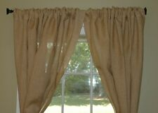 "72"" TALL JUTE BURLAP DRAPE PANEL 