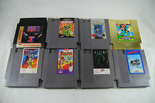 Nintendo NES Lot 8 Rare Games Arkista's Ring Alien 3 Micro Machines TMNT 2 More