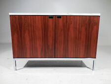 60's Vintage Knoll Rosewood Marble Chrome Credenza Cabinet Mid Century Modern