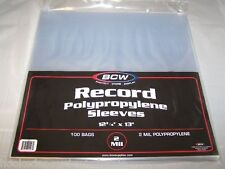 300 BCW Record Sleeves Plastic Outer 33 RPM LP Covers Album Holders Protection