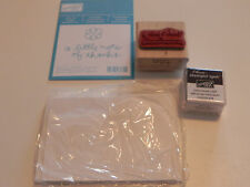 Stampin Up Mini Note Kit - Note of Thanks Stamp Set with Chocolate Chip Ink Spot