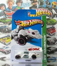 Hot Wheels 2013 #54 Ratmobile™ WHITE,2ND COLOR,PURPLE RIM,BLACK OH5SP,METAL BASE