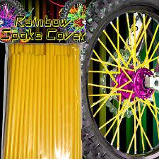 Spoke cover Spoke Tubes Wraps Skins Ribb Speichen Überzug 72 Stck Gelb Rainbow