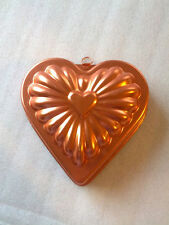 Copper Colored   HEART MOLD Jello Cake Candy  with hanger valentine wall hanging