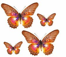 Set 4x sticker decal car laptop macbook kitchen butterfly purple brown room kid