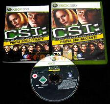 CSI PROVA SCHIACCIANTE XBOX 360 Italiano Crime Scene Investigation •••• COMPLETO
