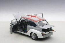 Autoart 1970 FIAT ABARTH TCR 1000 MATT GREY/RED STRIPES in 1/18 Scale In Stock!