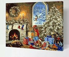 [Frameless]Paint By Number DIY Kit Wall Picture Home Decor-W207 Christmas Gift