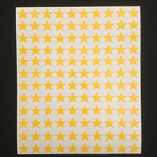 300 x Yellow Star Shape Peel and Stick Self Adhesive Vinyl Stickers 10mm