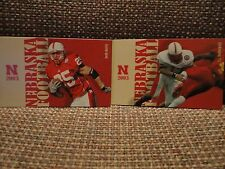 Nebraska (2) Two Huskers 2003 Schedule Cards Lot Josh Davis and TJ Hollowell