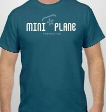 T-Shirt: Miniplane Paramotor and Top 80 Engine - Cotton Tee, Blue Miniplane-USA