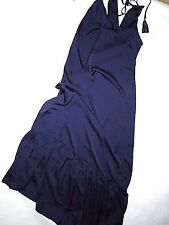 J Crew navy satin Nightgown full length lingerie gown  SMALL  retail $98