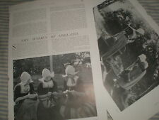 Photo article the women of Holland Netherlands 1906 ref Y3