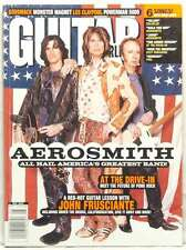 GUITAR WORLD MAGAZINE AEROSMITH STEVEN TYLER JOE PERRY JOHN FRUSCIANTE VERY RARE