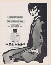 PUBLICITE ADVERTISING 064 1973 CAPUCCI ligne complète pour homme eau de toilette