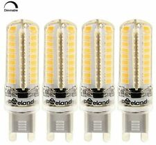 Poeland G9 LED Bulbs 5W 110V Dimmable Pack Of 4 Warm White