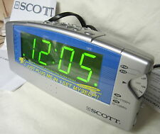 "NEW E-Z Set LARGE 1.4"" LED Display Clock Radio with Dual Alarms - Scott SJ140G"