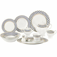 Lorren Home Trends Jeanette 57 Piece Porcelain Dinnerware Set