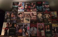 Lot of 29 Horror Sci-Fi Action Cult VHS movies Rare HTF many never digital / DVD