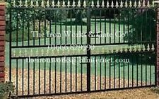 # SAXON DOUBLE DRIVEWAY WROUGHT IRON GATES 6' TALL 9FT MADE TO MEASURE IRONWORK