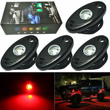 4PCS CREE LED Rock JEEP ATV 4x4 Off-Road Truck Trail Fender Underbody Lights RED