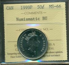 Test Token 1999P Canada Fifty cent Certified ICCS MS-66 NBU