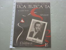 Tica Ti Tica Ta,  Sheet Music