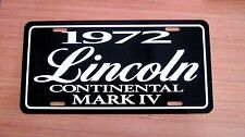 1972 Lincoln Continental MARK IV License plate tag 72 Mark 4 FOUR
