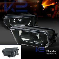 97-00 BMW E39 528i 540i 1997-2001 Z3 Black Clear Fog Lights Bumper Lamps