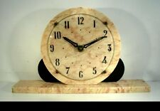 Art Deco French Marble Mantle Clock by UCRA