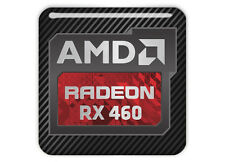 "AMD Radeon ​RX 460 1""x1"" Chrome Effect Domed Case Badge / Sticker Logo"