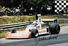 Jochen Mass SIGNED 12x8  F1 Surtees TS16, British Grand Prix ,Brands Hatch 1974