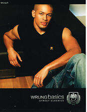 PUBLICITE ADVERTISING 094  2010  WRUNG BASICS  pret à porter homme