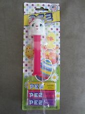 NEW PEZ Dispenser RARE Easter Lamb with Pink Stem in Package with Eggs & Chick