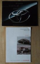 TOYOTA CARINA COROLLA STARLET orig 1996 UK Mkt Sales Brochure + Price List